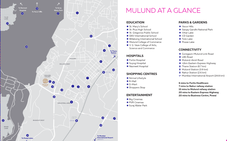 PIRAMAL MULUND west location map REVANTA CALL 9958959555